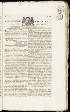 Alkmaarsche Courant 1835-11-09