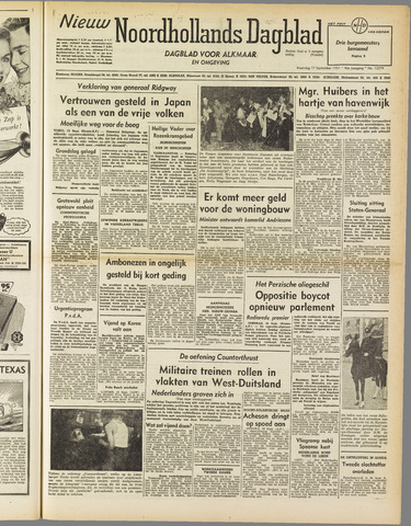 Nieuw Noordhollandsch Dagblad : voor Alkmaar en omgeving 1951-09-17