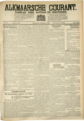 Alkmaarsche Courant 1933-09-07