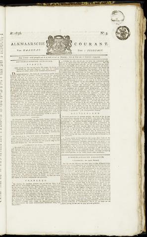 Alkmaarsche Courant 1836-02-01