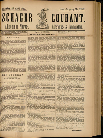 Schager Courant 1889-04-25
