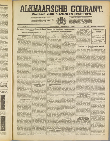 Alkmaarsche Courant 1941-01-08