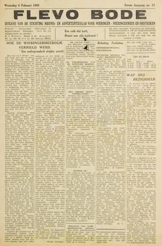 Flevo-bode: nieuwsblad voor Wieringen-Wieringermeer 1946-02-06