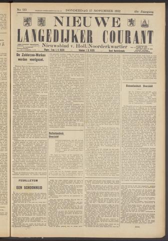 Nieuwe Langedijker Courant 1932-11-17