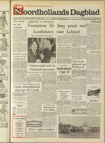 Noordhollands Dagblad : dagblad voor Alkmaar en omgeving 1967-03-29