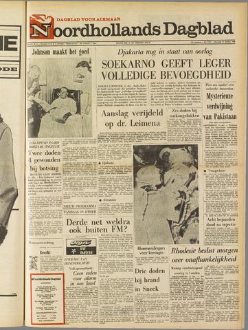 Noordhollands Dagblad : dagblad voor Alkmaar en omgeving 1965-10-11