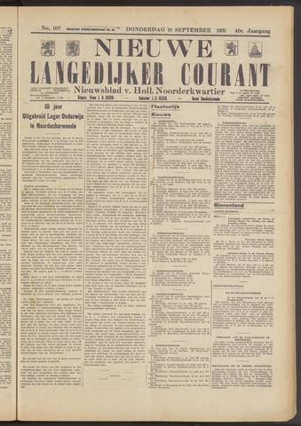 Nieuwe Langedijker Courant 1931-09-10