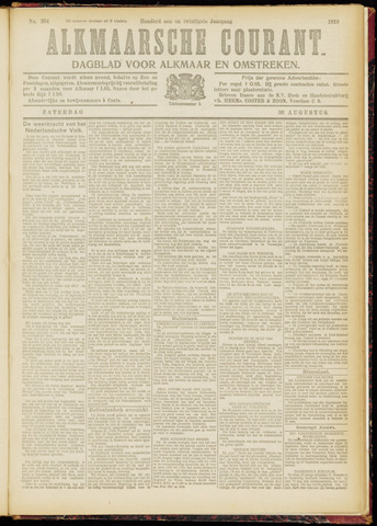 Alkmaarsche Courant 1919-08-30