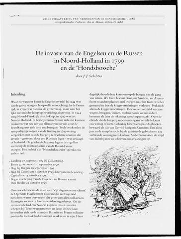 Uitgave Kring van Vrienden van de Hondsbossche 1986-01-01