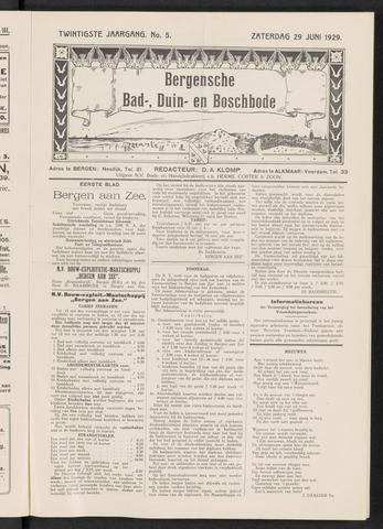 Bergensche bad-, duin- en boschbode 1929-06-29