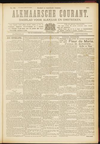 Alkmaarsche Courant 1917-09-01