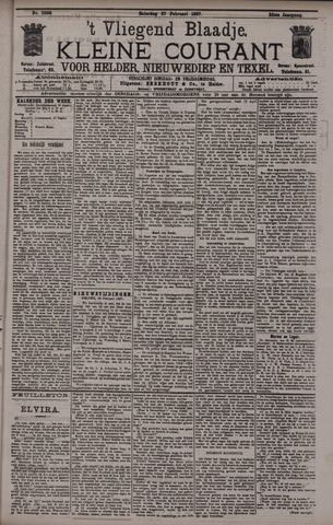 Vliegend blaadje : nieuws- en advertentiebode voor Den Helder 1897-02-27