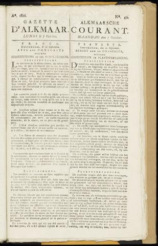 Alkmaarsche Courant 1811-10-07