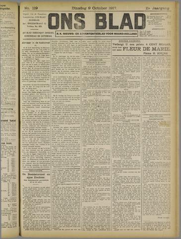 Ons Blad : katholiek nieuwsblad voor N-H 1917-10-09