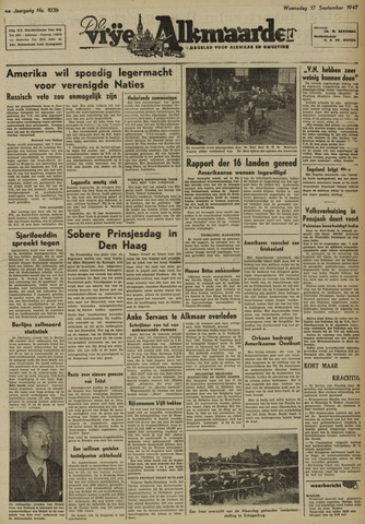 De Vrije Alkmaarder 1947-09-17