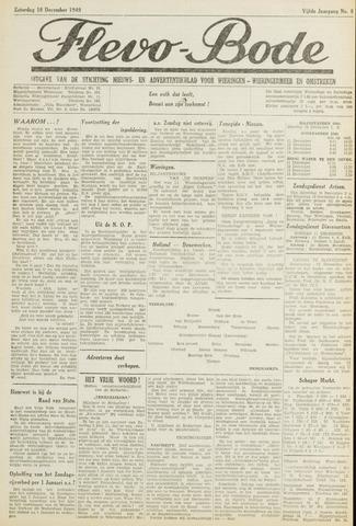 Flevo-bode: nieuwsblad voor Wieringen-Wieringermeer 1949-12-10