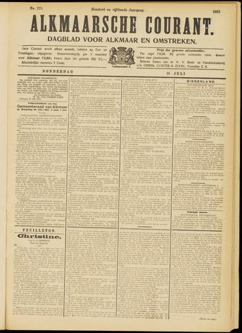 Alkmaarsche Courant 1913-07-31