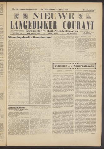 Nieuwe Langedijker Courant 1930-08-14