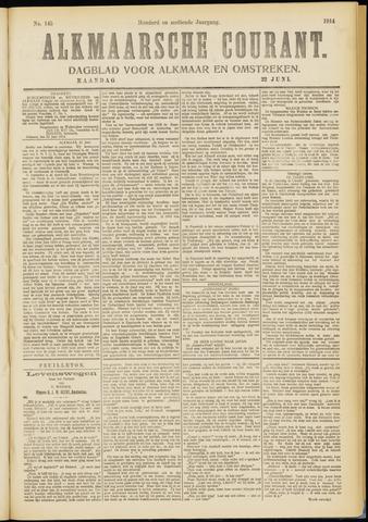 Alkmaarsche Courant 1914-06-22