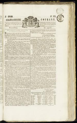 Alkmaarsche Courant 1840-04-13