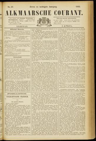 Alkmaarsche Courant 1885-04-03