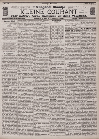 Vliegend blaadje : nieuws- en advertentiebode voor Den Helder 1912-03-02