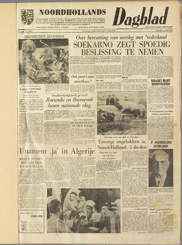 Noordhollands Dagblad : dagblad voor Alkmaar en omgeving 1962-07-02