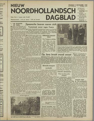 Nieuw Noordhollandsch Dagblad : voor Alkmaar en omgeving 1945-11-09