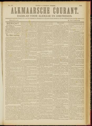 Alkmaarsche Courant 1918-11-25