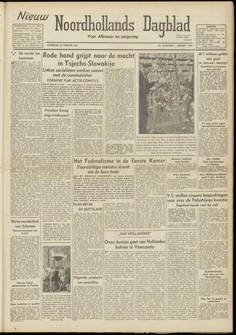 Nieuw Noordhollandsch Dagblad : voor Alkmaar en omgeving 1948-02-25