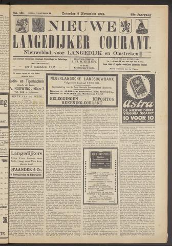 Nieuwe Langedijker Courant 1924-11-08