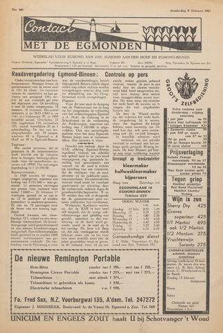 Contact met de Egmonden 1961-02-09