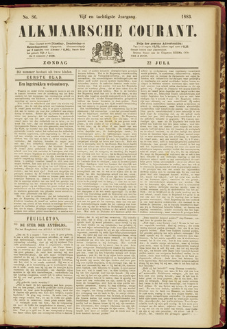 Alkmaarsche Courant 1883-07-22