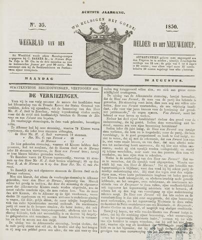 Weekblad van Den Helder en het Nieuwediep 1850-08-26