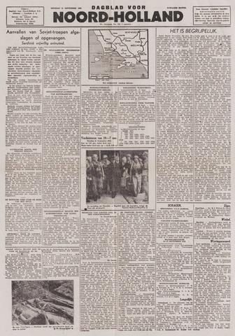 Dagblad Noord-Holland, Schager editie 1943-09-21