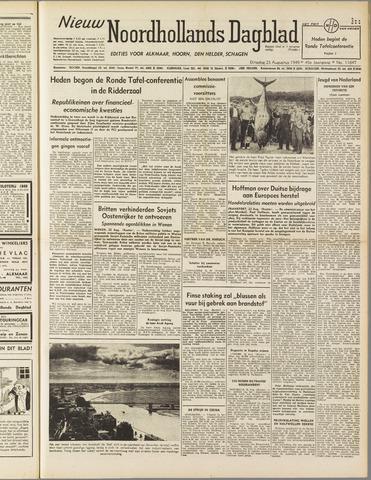 Nieuw Noordhollandsch Dagblad : voor Alkmaar en omgeving 1949-08-23