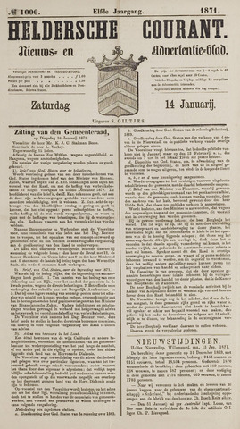 Heldersche Courant 1871-01-14