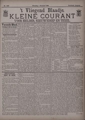 Vliegend blaadje : nieuws- en advertentiebode voor Den Helder 1886-12-01