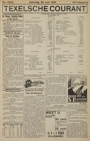 Texelsche Courant 1931-06-20