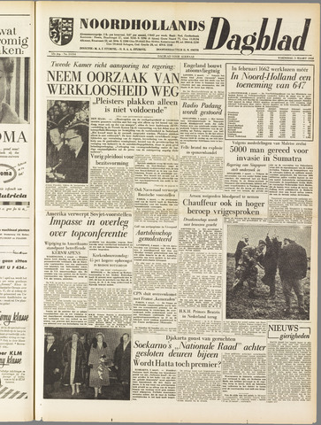 Noordhollands Dagblad : dagblad voor Alkmaar en omgeving 1958-03-05