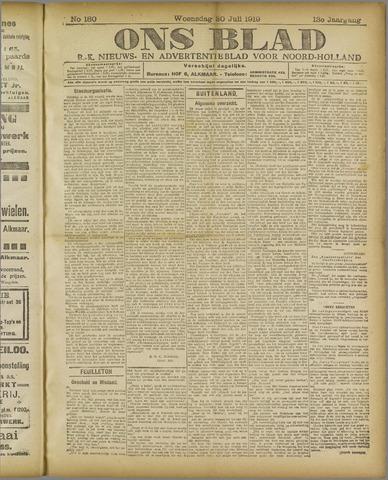 Ons Blad : katholiek nieuwsblad voor N-H 1919-07-30