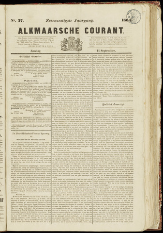 Alkmaarsche Courant 1864-09-11
