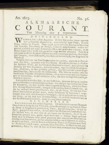 Alkmaarsche Courant 1803-09-05