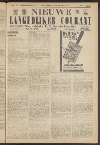 Nieuwe Langedijker Courant 1930-10-18