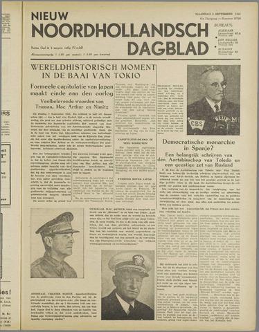 Nieuw Noordhollandsch Dagblad : voor Alkmaar en omgeving 1945-09-03