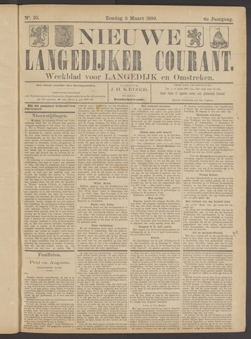 Nieuwe Langedijker Courant 1899-03-05
