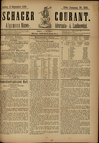 Schager Courant 1889-09-08