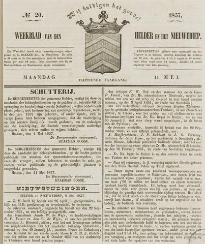 Weekblad van Den Helder en het Nieuwediep 1857-05-11