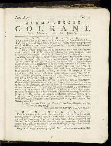 Alkmaarsche Courant 1805-01-28