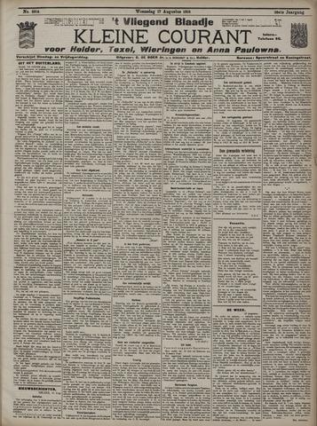 Vliegend blaadje : nieuws- en advertentiebode voor Den Helder 1910-08-17
